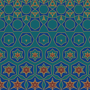 Morphing Tiles Teal