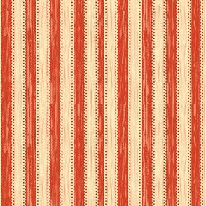 APPLE RED CREAM STRIPE