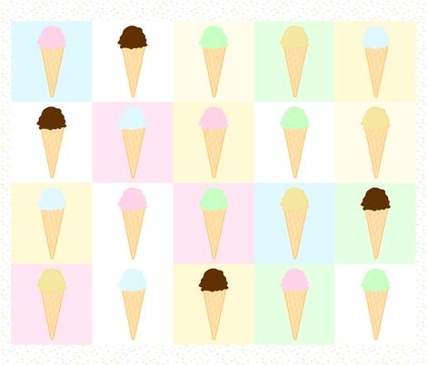 Ice Cream & Sprinkles Quilt fabric by de-ann_black on Spoonflower - custom fabric
