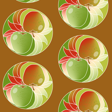 Yin Yang Apples 2 fabric by eclectic_house on Spoonflower - custom fabric