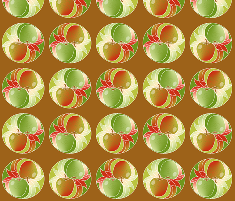 Yin Yang Apples 3 fabric by eclectic_house on Spoonflower - custom fabric