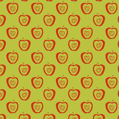 tiny apples GR fabric by glimmericks on Spoonflower - custom fabric