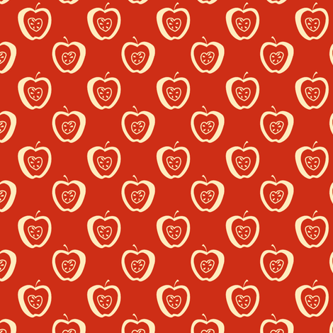 tiny apples RC fabric by glimmericks on Spoonflower - custom fabric