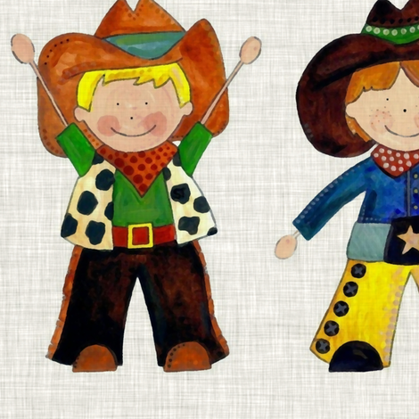 vintage cowboy rows fabric by scrummy on Spoonflower - custom fabric