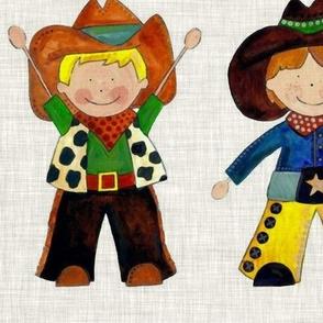 vintage cowboy rows