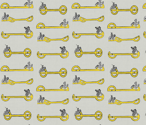 Medieval Equitation fabric by ragan on Spoonflower - custom fabric