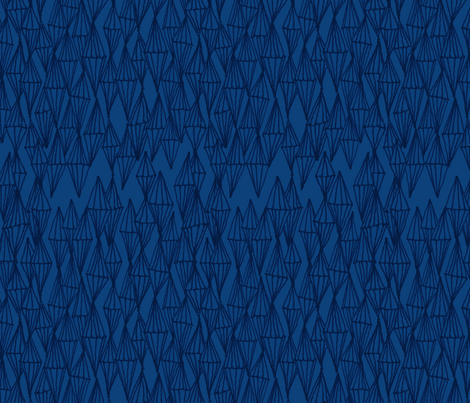 Diamond Towers Navy fabric by ninky on Spoonflower - custom fabric