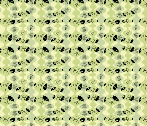 Atomic Beakers with Black fabric by vinpauld on Spoonflower - custom fabric
