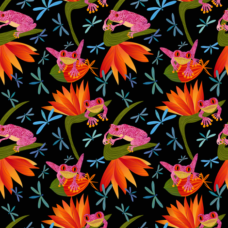 Bountiful Frogs fabric by vo_aka_virginiao on Spoonflower - custom fabric