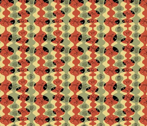 Atomic Beakers Red Green Black fabric by vinpauld on Spoonflower - custom fabric