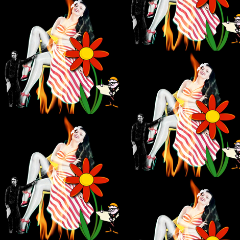 Women are from Venus fabric by whimzwhirled on Spoonflower - custom fabric