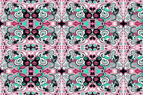 Groovy Pink fabric by teebeedesigns on Spoonflower - custom fabric