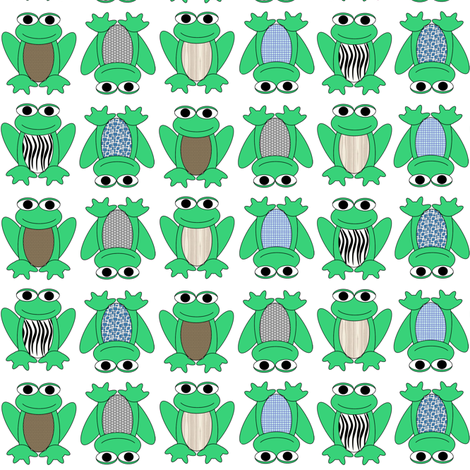 Frogs fabric by kamilindoto on Spoonflower - custom fabric