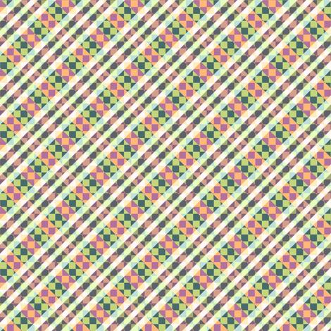 diamonds in the trough - watermelon fabric by glimmericks on Spoonflower - custom fabric