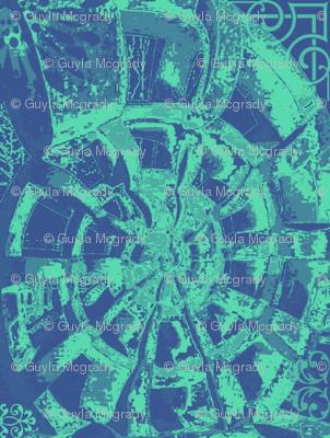 Nautilus garden blue wallpaper guylas coastal creations for Nautilus garden designs
