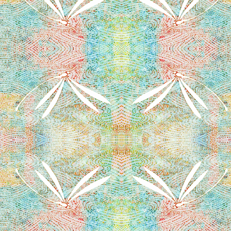 dragonflies on pond - pink, aqua multi color fabric by materialsgirl on Spoonflower - custom fabric