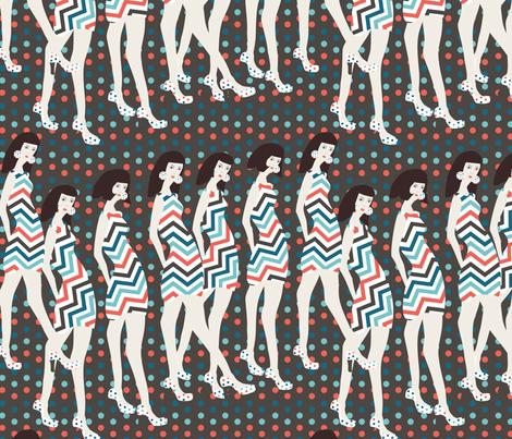 fashion show 1 fabric by kociara on Spoonflower - custom fabric