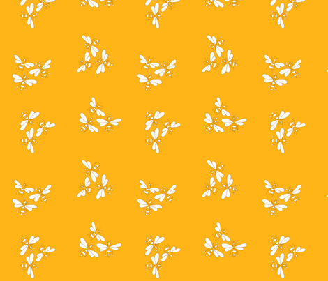 Flower Bees, Sunflower Gold fabric by de-ann_black on Spoonflower - custom fabric