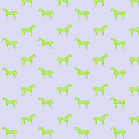 Green Horses fabric by ragan on Spoonflower - custom fabric