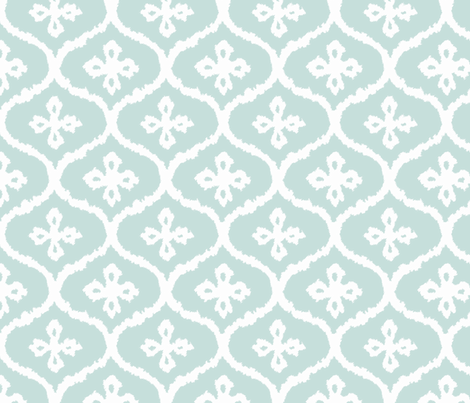 Spa Ikat Ogee fabric by willowlanetextiles on Spoonflower - custom fabric