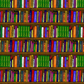 Book Shelves Repeat (colour)