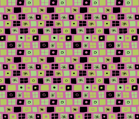 Modern Flags Fuschia and Green fabric by vinpauld on Spoonflower - custom fabric