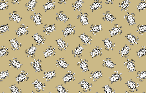 Turtle Scatter fabric by lulabelle on Spoonflower - custom fabric