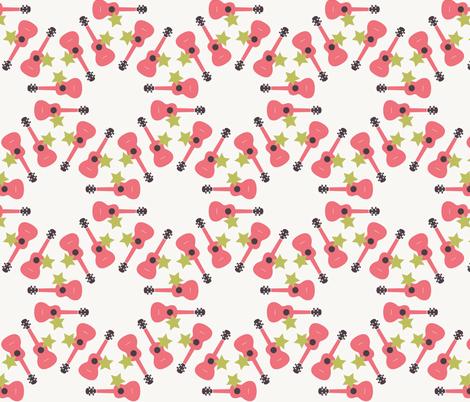 Ukulele Star fabric by owlandchickadee on Spoonflower - custom fabric