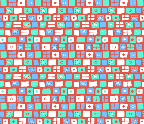 Modern Flags Vermillion and White fabric by vinpauld on Spoonflower - custom fabric