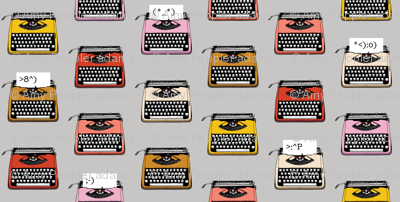 Typewriter Emojis* (Silkscreen) || type text vintage analog symbols emoticons greetings