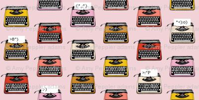 Typewriter Emojis* (Capote) || type text vintage analog symbols emoticons greetings