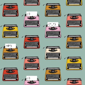 Typewriter Emojis* (Camouflage) || type text vintage analog symbols emoticons greetings