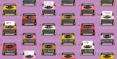 Typewriter Emojis* (Lavender Disaster) || type text vintage analog symbols emoticons greetings
