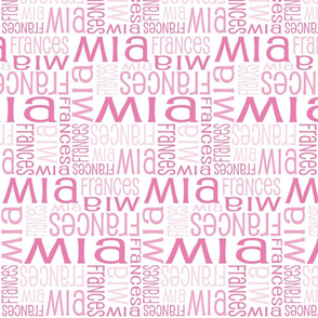Personalised Name Fabric - Pink Reverse