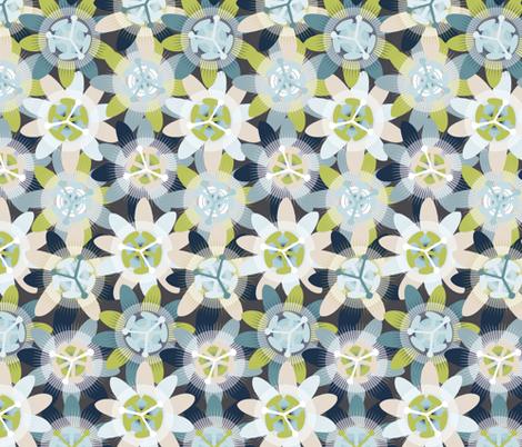 Passionflower fabric by owlandchickadee on Spoonflower - custom fabric