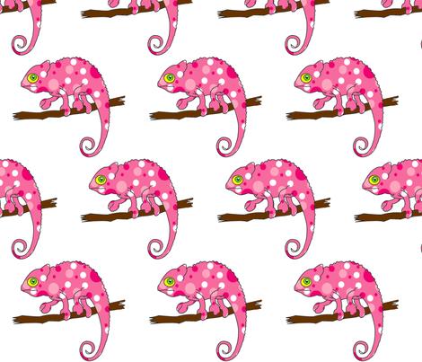 Pink Chameleon fabric by zedralz on Spoonflower - custom fabric