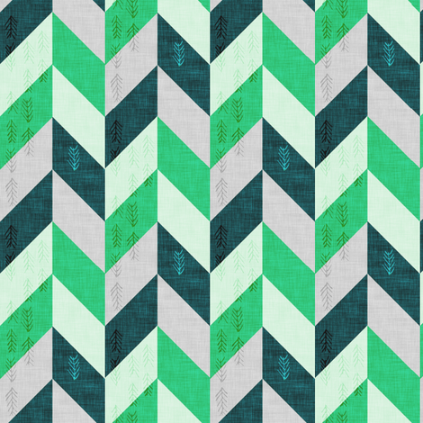 Chevron (GREEN) fabric by nouveau_bohemian on Spoonflower - custom fabric
