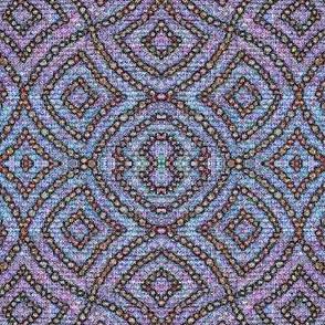 Wave stone - purple, blue, lavender
