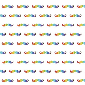 Rainbow Polka-stache