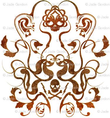 Skull Damask 1