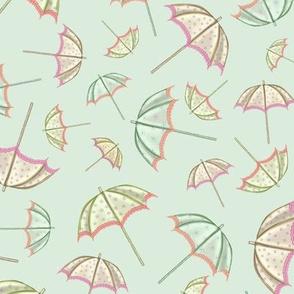 Tumbling Parasols (Mint)