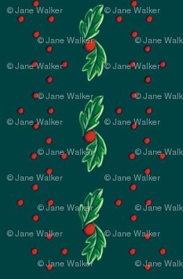 Green Holly Stripe ©2013 by Jane Walker