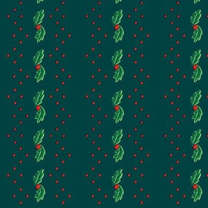 Green Holly Stripe ©2013 by Jane Walker