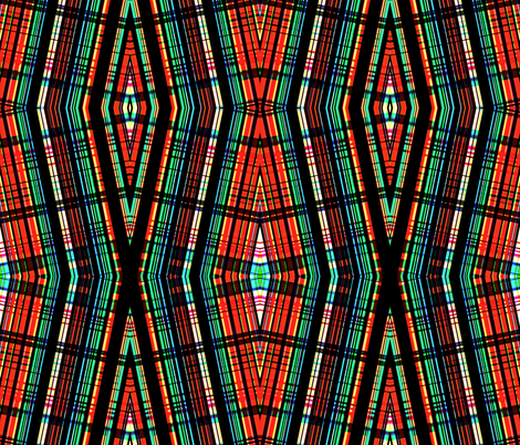 Twisted plaid fabric by whimzwhirled on Spoonflower - custom fabric