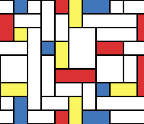 Mod - Mondrian Blocks FQ fabric by studiofibonacci on Spoonflower - custom fabric