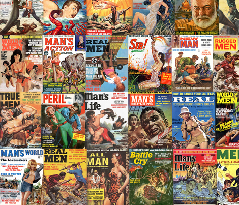 Men's Magazine Covers fabric by erytheia on Spoonflower - custom fabric