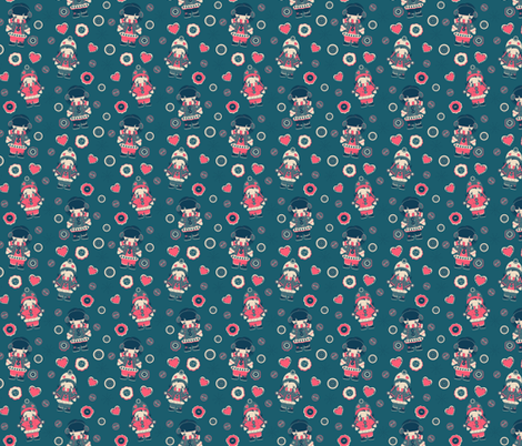 Wintery Fun Girls fabric by eppiepeppercorn on Spoonflower - custom fabric