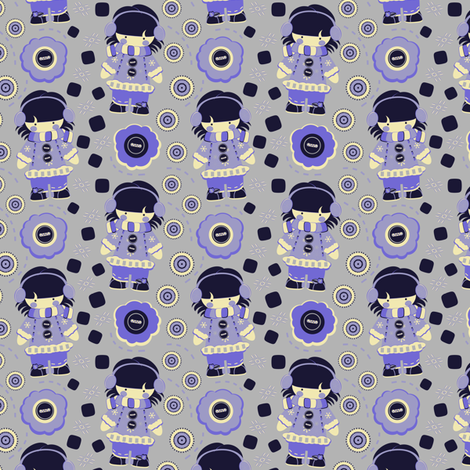 Chilly Girl fabric by eppiepeppercorn on Spoonflower - custom fabric