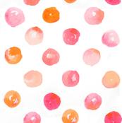 polkadots in water