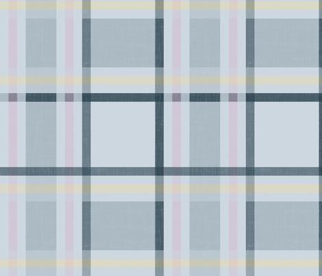 Retro Plaid - Slate fabric by eto on Spoonflower - custom fabric